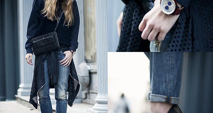 Snygga detaljer och kombination från Lisa i New York. Mer av hennes outfits hittar du här http://lookbook.nu/preoccupiedramblings