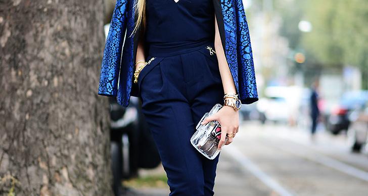 Chic i koboltblått