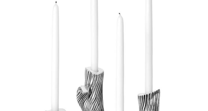 Denna serie ljusstakar av formgivaren Jakob Solgren är en nyhet från Svenskt Tenn.