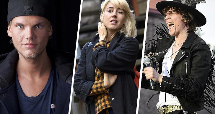 """Tim """"Avicii"""" Bergling, Veronica Maggio och Håkan Hellström"""