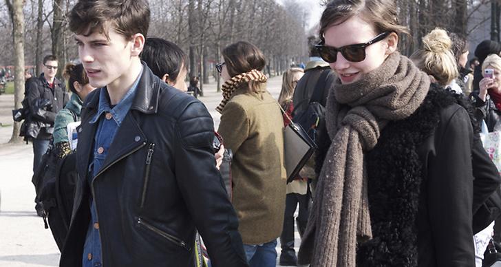 Modellparet Jeremy Young och Sara Blomqvist.