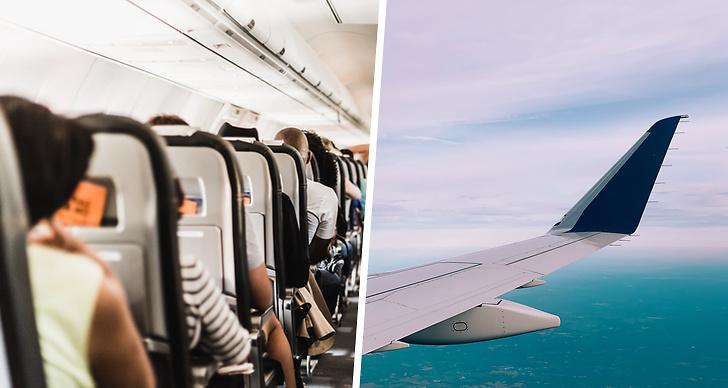 Torr luft på flygplanet när du flyger.
