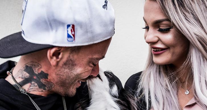 Jocke & Jonna med en hund