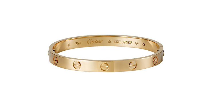 """""""Sist men absolut inte minst är Cartier Love bracelet... Ett smycke man kan se på de flesta It girlsen"""""""