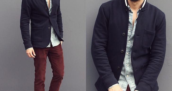 Reinaldo från L.A. är snygg i kombon burgundy-marinblått. Snyggt matchat med jeansshorta för en lite vardagligare look. http://lookbook.nu/reyalfashion