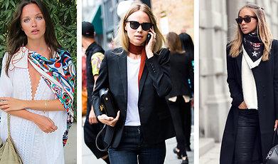 våren 2015, inspiration, Trend, Scarf, accessoarer