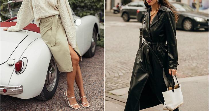 Hösten 2019 bär vi gärna jackor, kappor, klänningar, kjolar, skjortor och byxor i skinn!