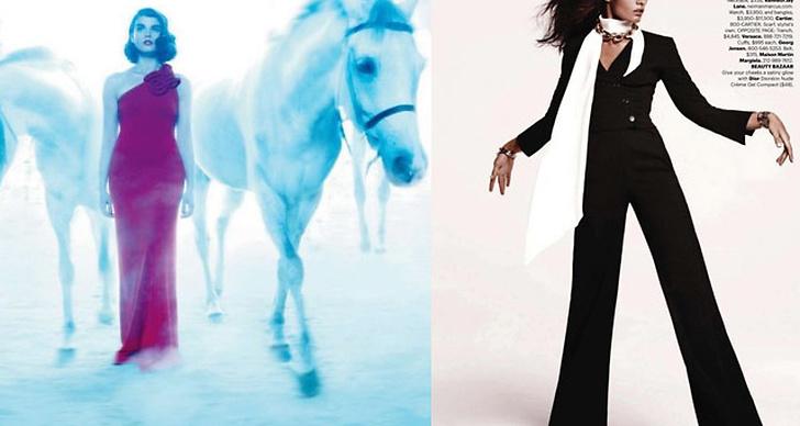 Månadens Illusion - Elle Canada (t v), Harper's Bazaar US (t h)