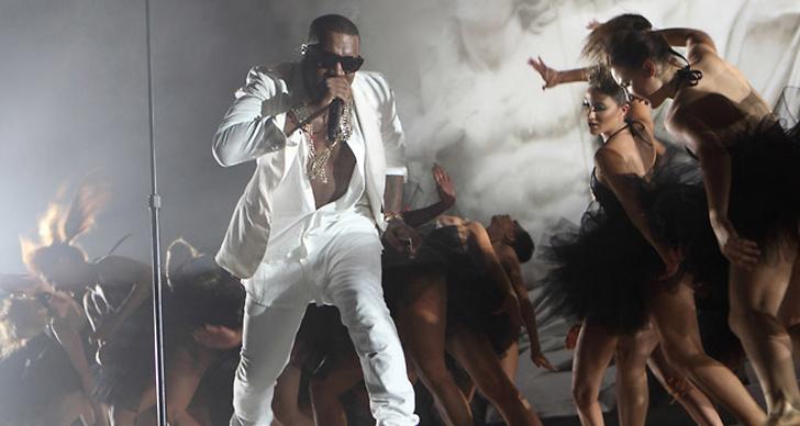 Hiphop-stjärnan på scen.