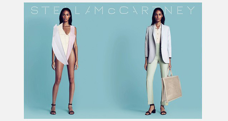 Stella McCartney S/S 2011. Foto: Mert Alas & Marcus Piggot. Modeller: Joan Smalls & (Malgosia Bela).