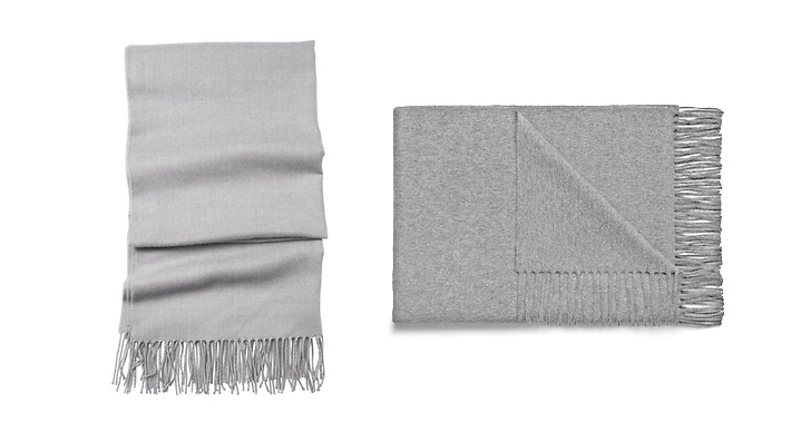 Halsduk från Gina tricot, ca 150 kr VS halsduk från Acne, ca 1 400 kr.