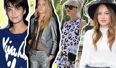 Kate Moss, Fashion Week, Fashion, Bäst klädda, LFW, Cara Delevingne
