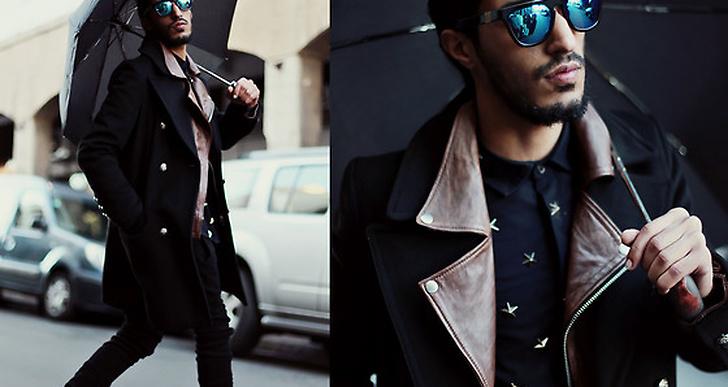 Mochine från Marocco är snygg i svart och kamelfärgade sneakers. Mer från honom här http://lookbook.nu/mohcineaoki