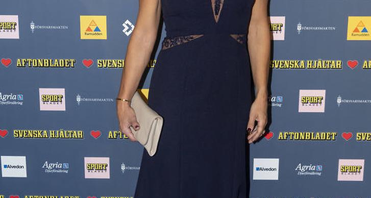 Kristin Kaspersen på röda mattan.