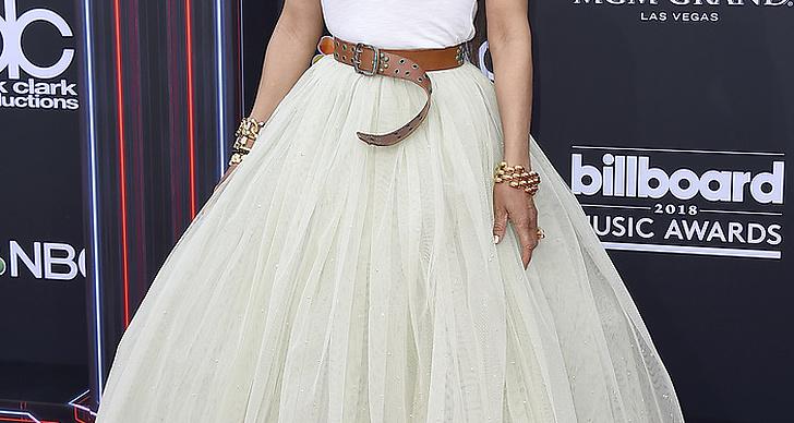 Janet Jackson på röda mattan under Billboard Music Award 2018.