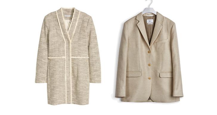 Jacka från H&M, ca 500 kr VS jacka från Filippa K, ca 2 900 kr.