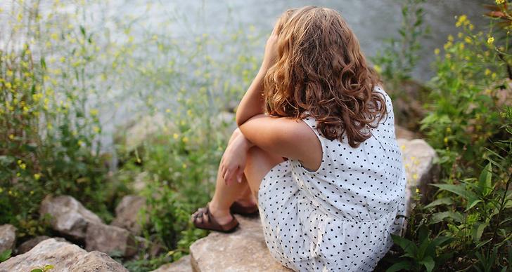 Ensam tjej, ledsen, ångest, panikattack