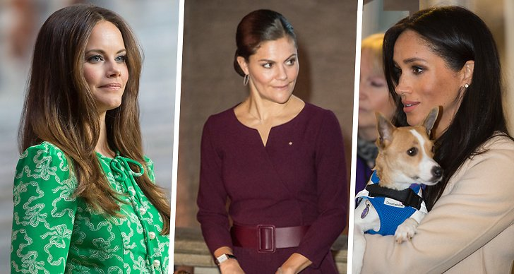 Prinsessan Sofia, kronprinsessan Victoria och hertiginnan Meghan Markle