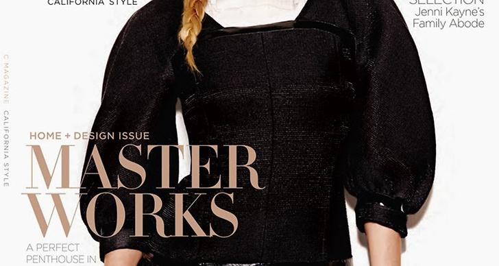 Diane Kruger på omslaget av California Style magazine