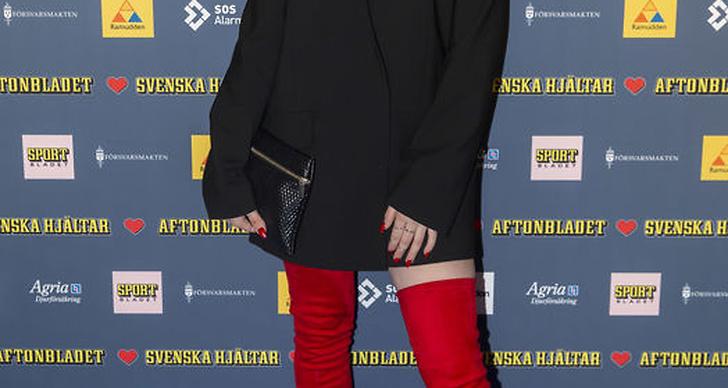 Wiktoria Johansson under Svenska Hjältar galan 2018.