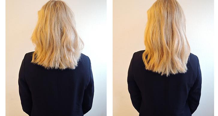 """Modettes skönhetsredaktör Lisa Segerson testade Hairx """"Håroljan gav snabbt resultat och det kändes som om mina toppar verkligen återfuktades. Den doftade också väldigt gott"""""""