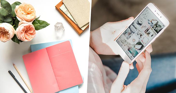 Jobba med sociala medier, karriär, iphone, anteckningsblock