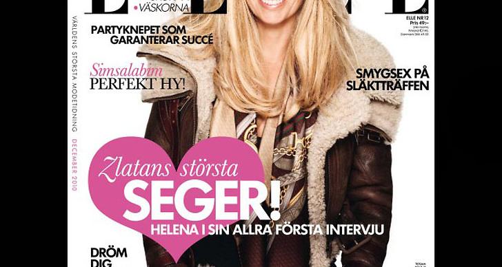 Helena Seger ger sin första intervju i senaste numret av ELLE.