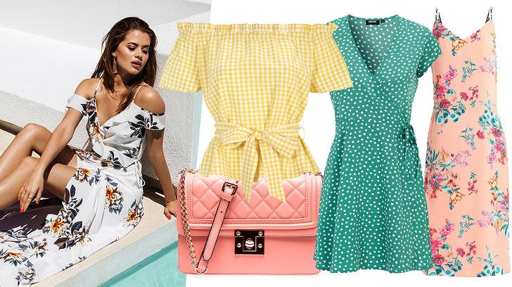Färgglada kläder att bära i sommar