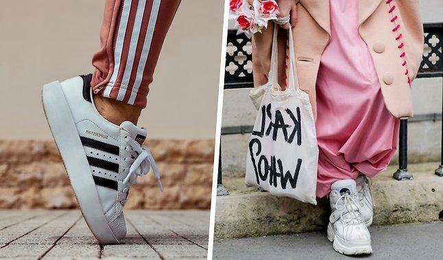 Vita, Sneakers, skor