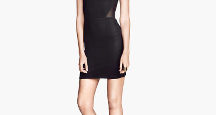 6. Klänning med utskurna partier i transparent mesh hittar du på H&M för 199 kronor.