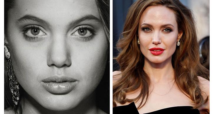 4. Angelina Jolie: Vi är inte helt övertygade om Angelina Jolie har justerat sitt utseende eller inte. Men något har förändrats.
