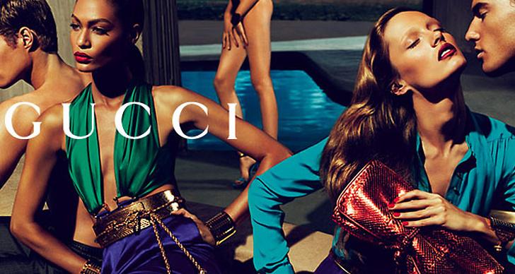 Gucci S/S 2011 Foto: Mert Alas & Marcus Piggot. Modeller: Karmen Pedaru, Joan Smalls & Hailey Clauson.
