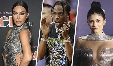 Kim Kardashian, Kylie Jenner, Travis Scott