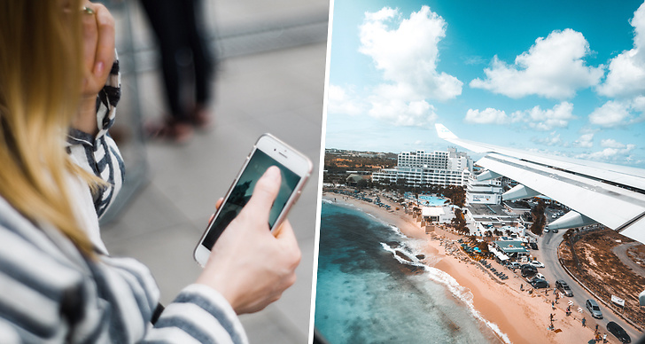 Ladda mobil, flygplats, resa