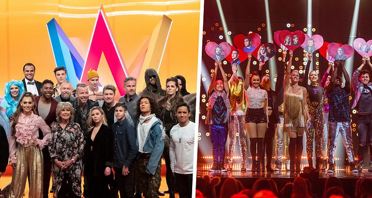Bild från scenen på Melodifestivalen.