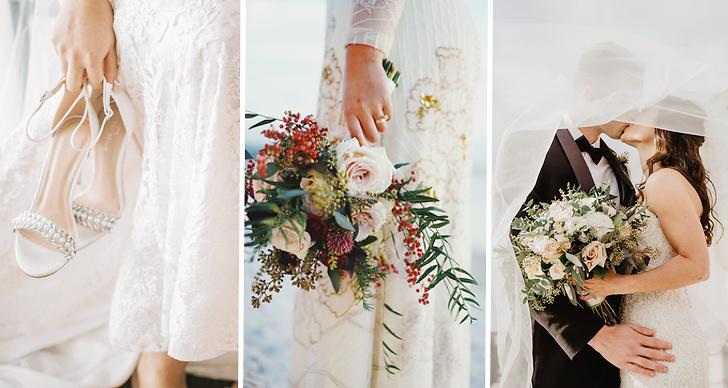 Bröllop, klänning, vigselring, par