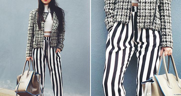 Willabella från Australien mixar mönstrat och svartvitt i en cool kombo! http://lookbook.nu/willaaaa