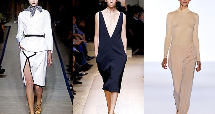 Här syns modellen på catwalken för Yves Saint Lauren, Chloé och Celine.