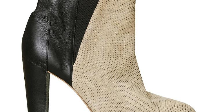 Tvåfärgad ankle boot.