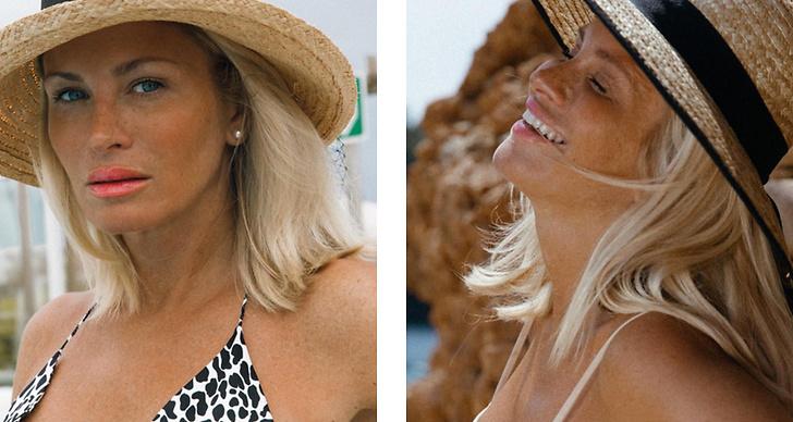 Bilden är ett montage med två bilder på Carolina Gynning.