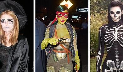 Rita Ora, Halloweenkostym, hallowood, Paris Hilton, Kostym, molly sims, Kändisar, Zoe Kravitz, riganna