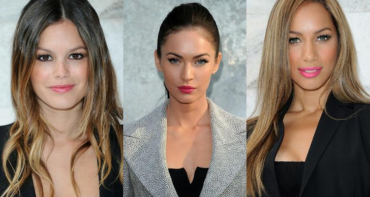 Rachel Bilson, Megan Fox och Leona Lewis i fint cerisefärgade läppar.