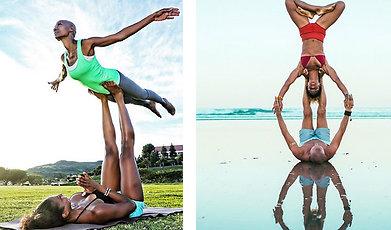 Träning, Livsstil, par, Yoga, övningar