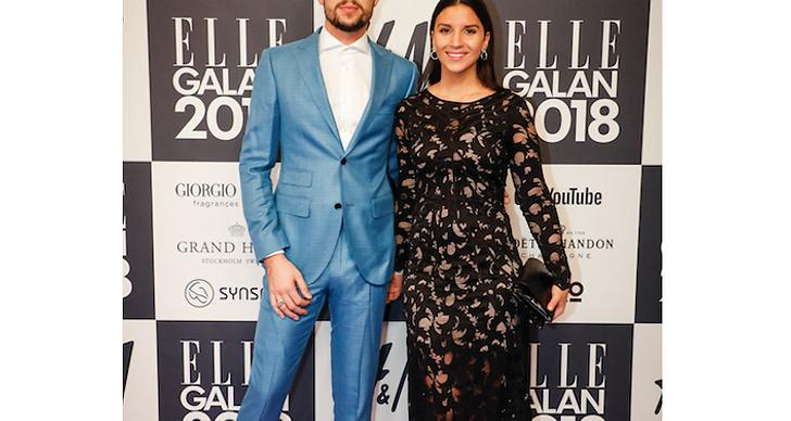 Robin Bengtsson med flickvännen Jennie Salte