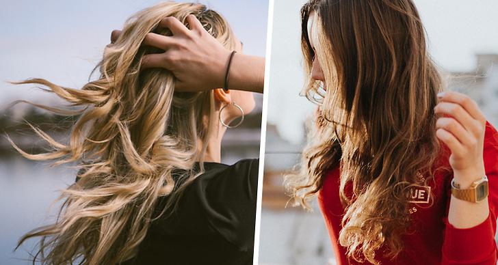 Bilden är ett montage med två bilder på tjejer med elektriskt hår.