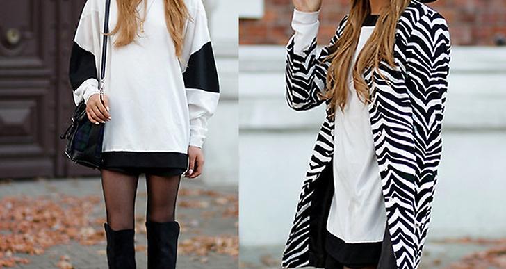 Juliette från Polen i höstens trend svart vitt och zebramönstrat.  http://lookbook.nu/juliettk