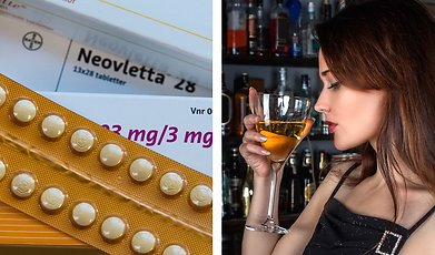 mens, Alkohol, P-piller