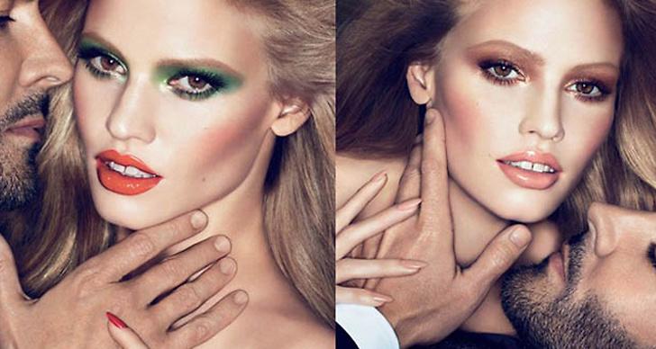 Lara Stone är ansiktet utåt för höstens skönhetskampanj hos Tom Ford.