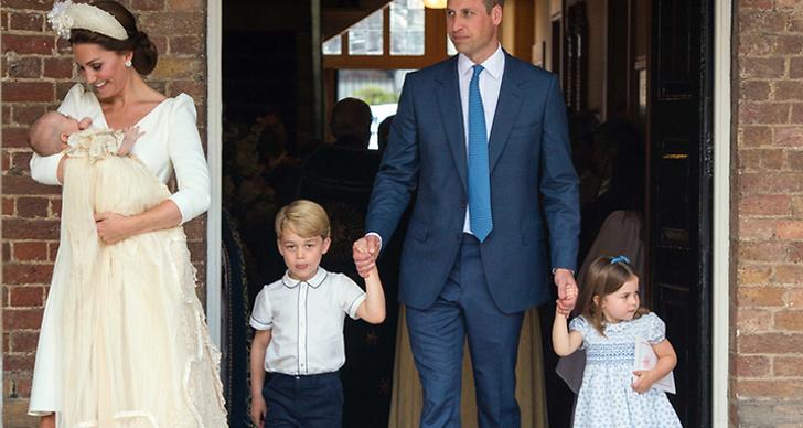 Kate Middleton, prins Louis, prins William och prinsessan Charlotte.