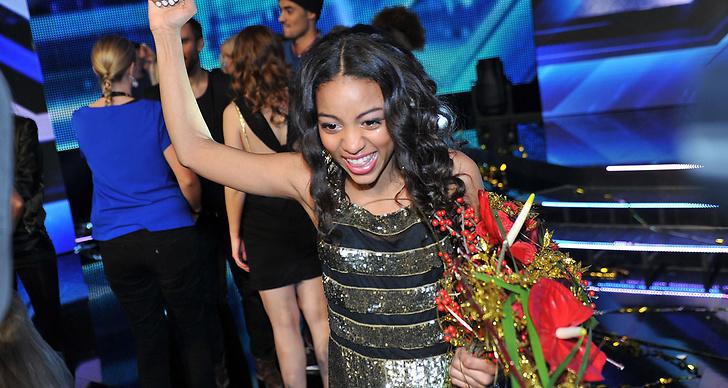 Så här såg det ut när Awa tog hem vinsten i X Factor.